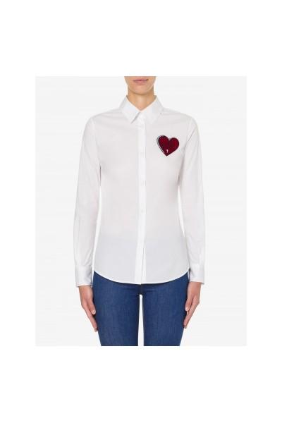 Camisa de popelina elástica | Love Moschino