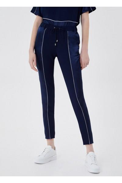 Pantalon con aplicaciones raso |Liujo