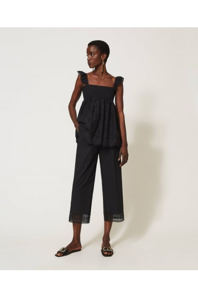 pantalon con encaje |twinset
