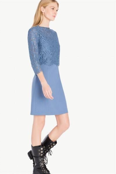 Vestido lana y blusa encaje | twin set