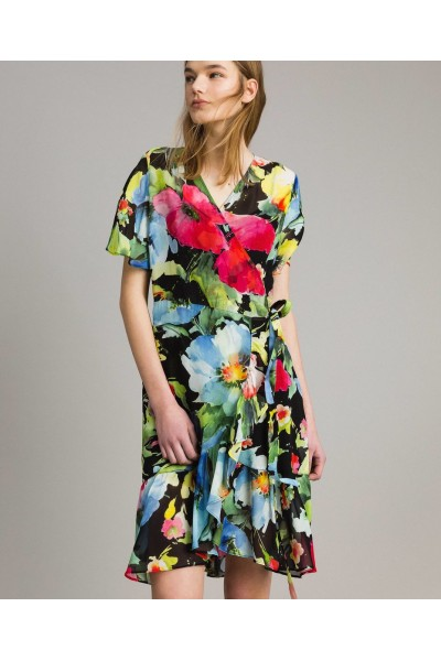 Vestido estampado floral | twin set