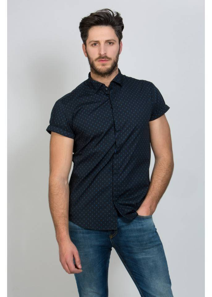 Camisa de manga corta de popelin | SCOTCH&SODA