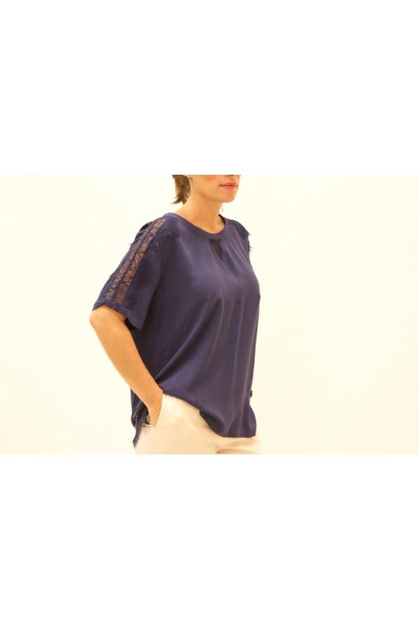 Camiseta encaje   twin set